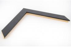 Flat 30mm x 15mm Black Open Grain Moulding