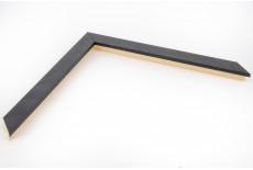 Flat 20mm x 15mm Black Open Grain Moulding