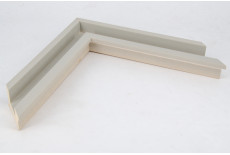 Small Open Grain Light Grey Trough Moulding
