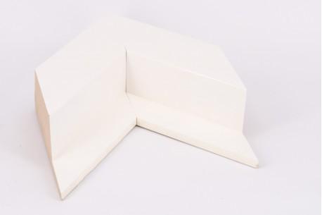 Angled Shiny White Box Float Profile