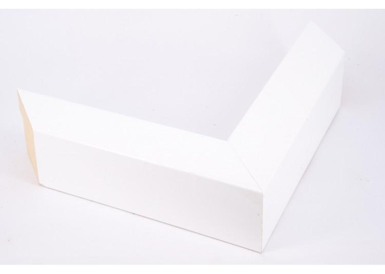 Medium Box Profile, High Gloss White - Flagship Framing