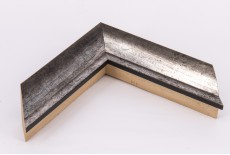 Medium 30mm x 44mm Spotted Silver Deep Sloped Moulding