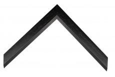 Open Grain Black 30mm Moulding with Bevel Edge