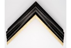 Open Grain Black & Grey Wash with Gold Lip Traditional Moulding
