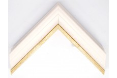 Open Grain Vellum with Gold Lip Traditional Moulding