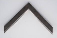 Medium Flat Wenge Foil with Silver Lip Moulding