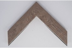 Large Flat Mahogany Foil with Silver Lip Moulding
