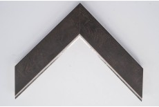 Large Flat Wenge Foil with Silver Lip Moulding