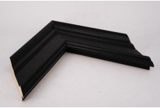 Large Traditional Shaped Moulding Open Grain Black