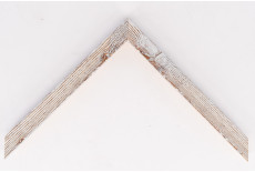 Small Distressed Driftwood Frame White