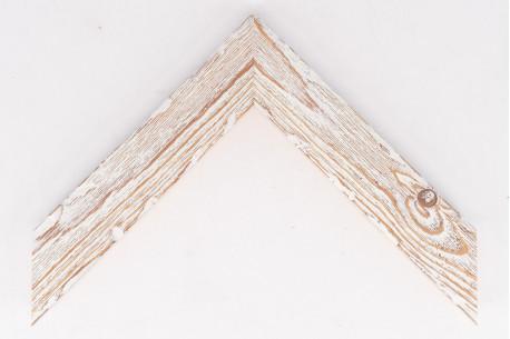 Medium Distressed Driftwood Frame White