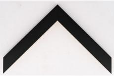 Flat 30mm x 15mm Black Closed Grain Moulding