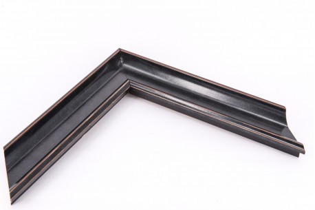 Medium Traditional Ornate Moulding, Black - Flagship Framing