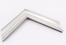 Medium Traditional Ornate Moulding, Silver