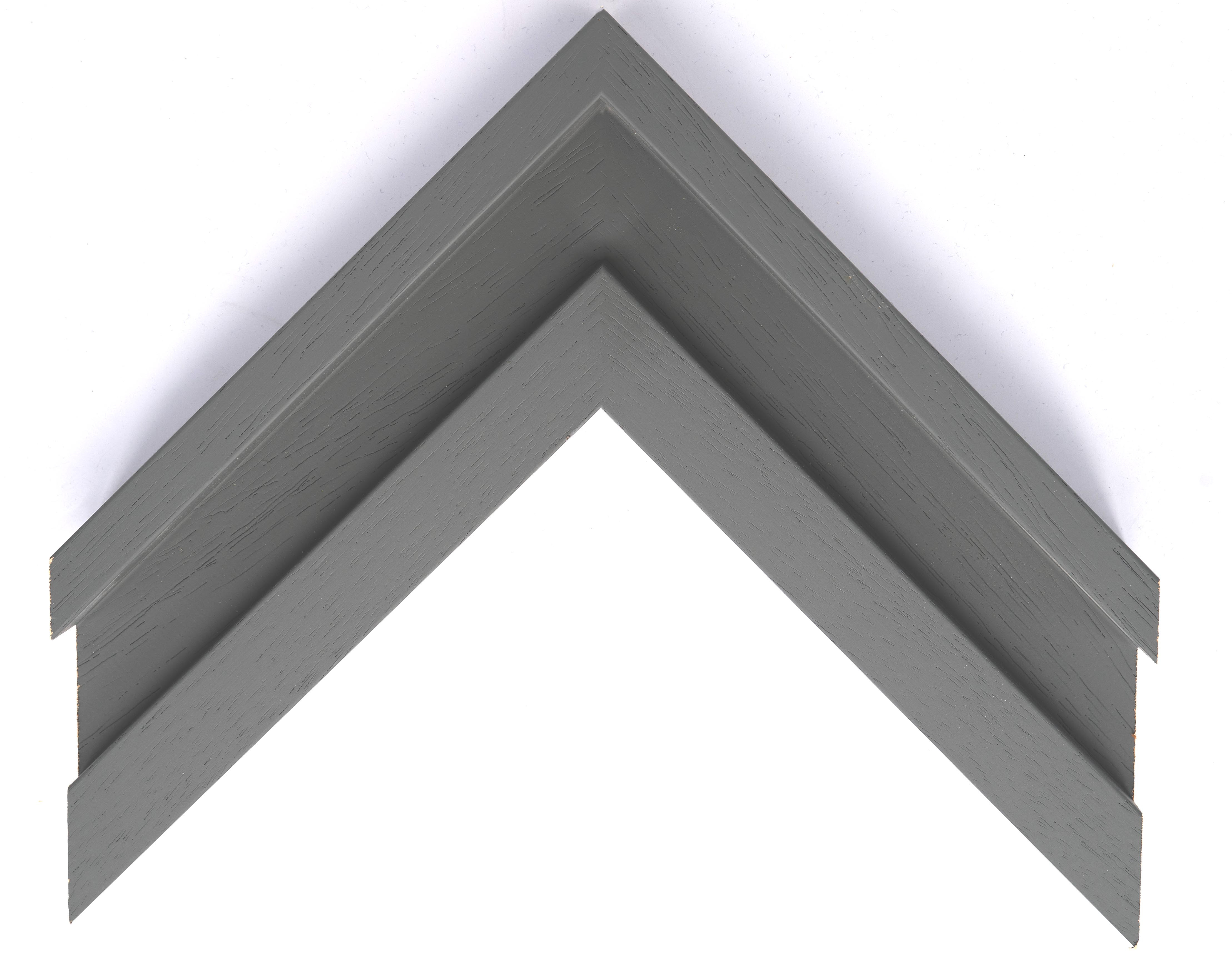 Large Open Grain Dark Grey Trough Moulding