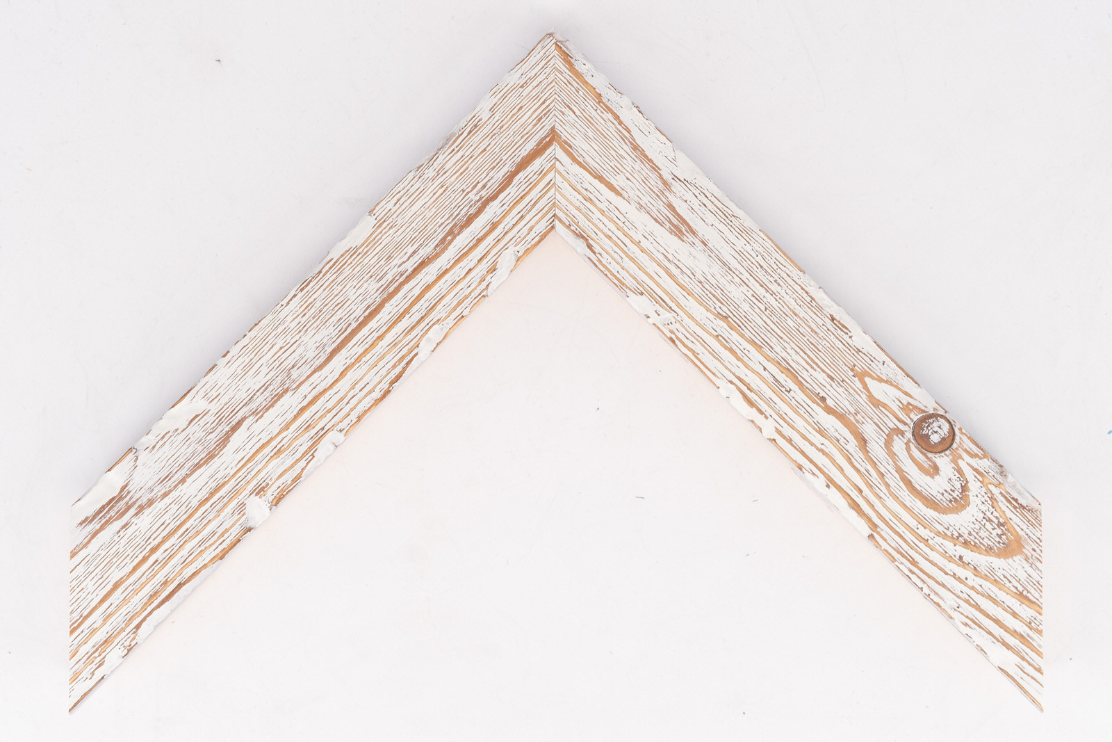 Medium Distressed Driftwood Frame White